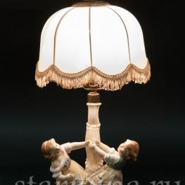 Играющие дети, лампа, Karl Ens, Германия, 1920-30 гг