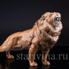 Фигурка из фарфора Рычащий лев, Hutschenreuther, Германия, кон. 20 в.