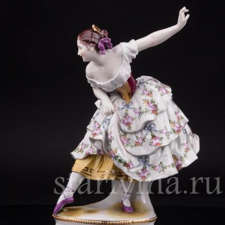 Фарфоровая статуэтка балерины Фанни Эльслер, Volkstedt, Германия, нач. 20 в.