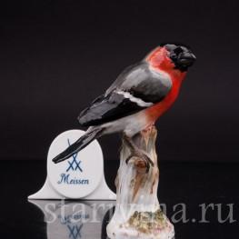 Фигурка птицы из фарфора Снегирь, Meissen, Германия, сер. 19- нач. 20 вв.