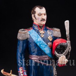 Коллекционная фарфоровая статуэтка Атаман М. И. Платов, Россия, совр.